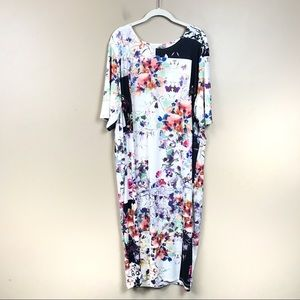ASOS floral plus size midi dress 24